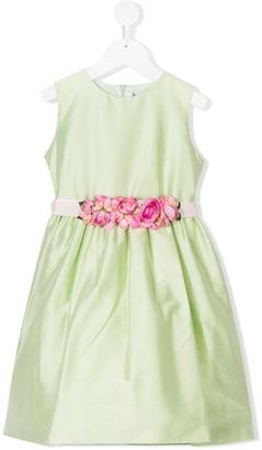Lesy Floral Trim Dress
