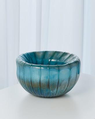 Global Views Teardrop Folded Bowl - Turquoise
