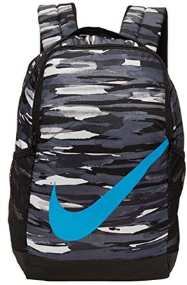 Nike Kids Brasilia (Little Kids/Big Kids) (Black/Smoke Grey/Laser Blue) Backpack Bags