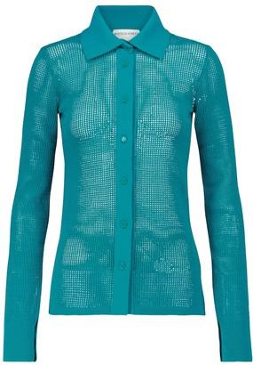 Bottega Veneta Cotton-blend mesh cardigan