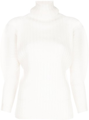 Pleats Please Issey Miyake High-neck technical pleated top