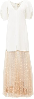 KHAITE Dorothy Polka-dot Tulle Dress - Womens - White