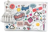 Anya Hindmarch Georgiana stickers clutch