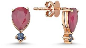 Selda Jewellery Ruby & Blue Sapphire Single Earring