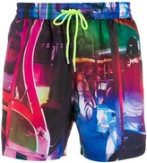 Paul Smith drawstring abstract print swim shorts