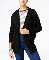 American Rag Lace-Up-Back Hooded Cardigan, Only at Macy's