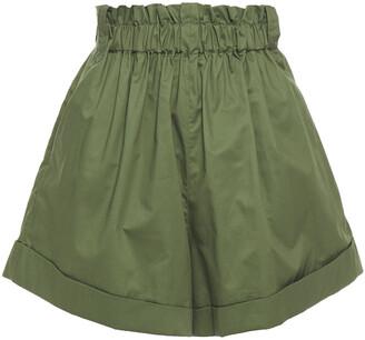 IRO Shirred Cotton-poplin Shorts