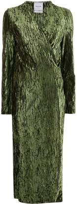 Black Coral Claire wrinkled-effect dress