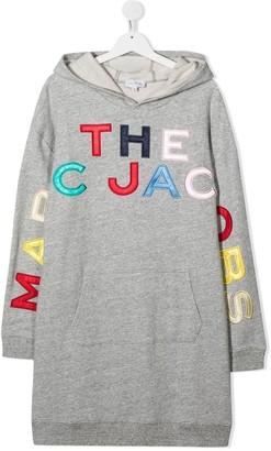The Marc Jacobs Kids Hooded Logo Dress