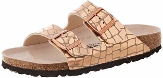 Birkenstock Sandales Arizona Microfibre Gator Gleam Copper Womens Sandal
