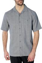 Haggar Short Sleeve Microfiber Large Windowpane Shirt