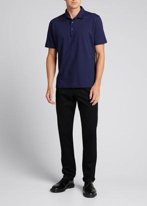 Isaia Men's Printed Circles Polo Shirt