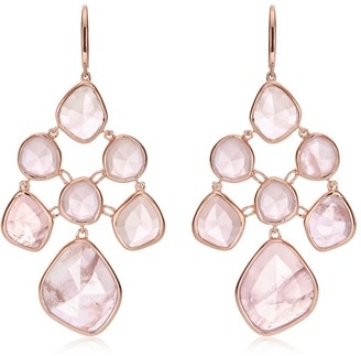 Monica Vinader RP Siren Rose Quartz Chandelier Earrings