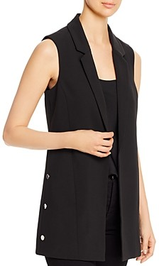 T Tahari Long Open Blazer Vest