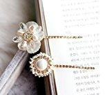 Smile Korean Shell Flower Rhinestone Barrettes Hair Pins Fashion Bang Clip Hair