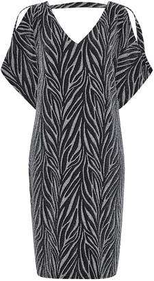 Dorothy Perkins Womens **Billie & Blossom Tall Silver Zebra Print Shift Dress, Silver