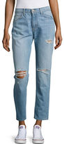 Flying Monkey Distressed Cropped Jeans