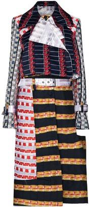 Mariah Esa Patchwork Long Trench Coat