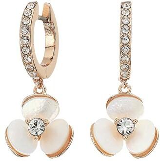 Kate Spade Disco Pansy Drop Earrings (Cream Multi) Earring