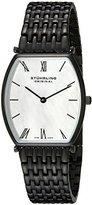 Stuhrling Original Women's 510.12597 Octane Concorso Meydan Swiss Quartz Mother-Of-Pearl Dial Black IP Bracelet Watch
