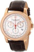 Stuhrling Original Men's 717.04 Octane Targa Courant Analog Display Swiss Quartz Brown Watch