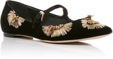AERIN Embroidered Mary Jane Flat