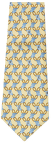 Chanel Vintage Yellow Scroll Silk Tie