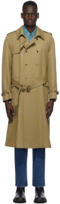 Gucci Tan Wool Trench Coat