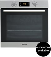 Hotpoint Class 2 SA2840PIX 60cm Built-In Electric Single Oven With Optional Installation - Stainless Steel