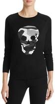 Aqua Camo Skull Crewneck Sweater