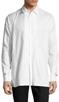Maison Margiela Solid Pleated Dress Shirt