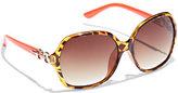 New York & Co. Gold-Link Tortoise Sunglasses