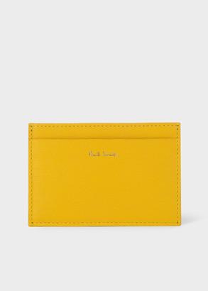 Mustard Leather Credit Card Holder