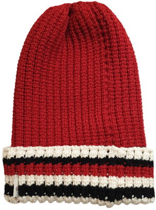 Moncler Red Wool Hats & pull on hats