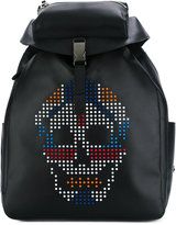 Alexander McQueen skull-embellished backpack - men - Calf Leather/plastic - One Size