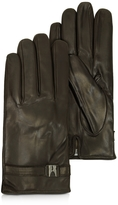 Moreschi Alaska Dark Brown Leather Men's Gloves w/Cashmere Lining
