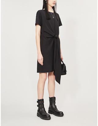 Rag & Bone Aimie tie-front cotton-jersey mini dress