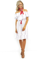 West Coast Wardrobe Exotic Beauty Embroidered Dress in White