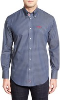 Thomas Dean Men's 'Ole Miss Rebels' Regular Fit Long Sleeve Gingham Sport Shirt