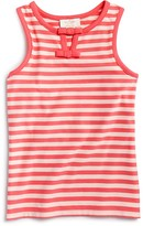 Kate Spade Girls' Striped Cutout Tank - Sizes 7-14