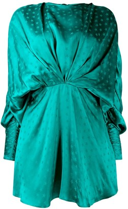 ATTICO Star print draped mini dress
