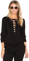 Michael Lauren Dominic Lace Front Pullover in Black. - size XS (also in )