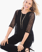 Chico's Lace Overlay Top