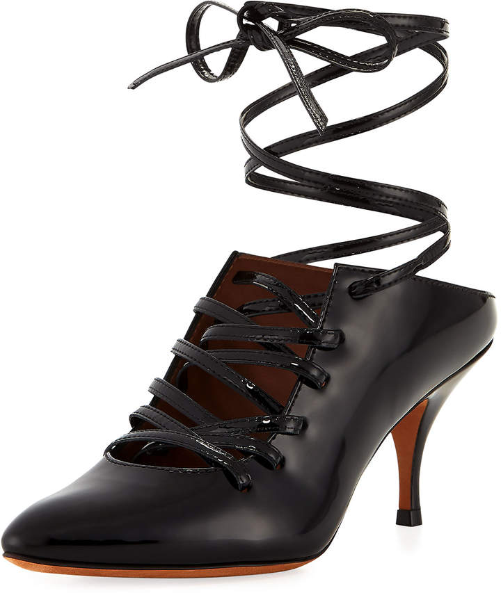 Givenchy Leather Lace-Up Pump