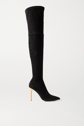 Balmain Suede Over-the-knee Boots - Black