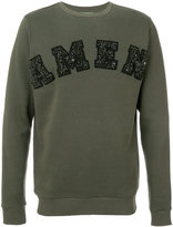 Amen embroidered logo sweatshirt
