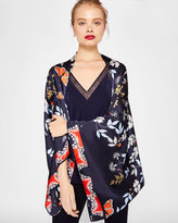 Ted Baker Kyoto Gardens silk cape scarf