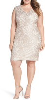 Alex Evenings Embellished Lace Sheath Dress (Plus Size)