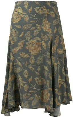 Charlotte Knowles Floral-Print Midi Skirt