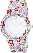 Vernier Women's VNR11168P Rhinestone-Accented Watch
